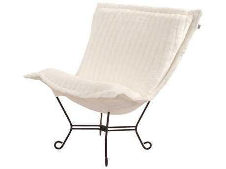 Howard Elliott Scroll Puff Mink Snow Chair