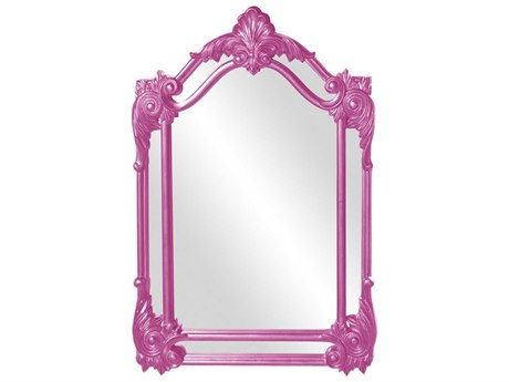 Howard Elliott Cortland 32'' W x 47'' H Hot Pink Wall Mirror