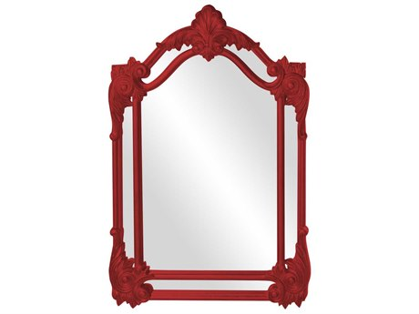 Howard Elliott Cortland 32'' W x 47'' H Red Wall Mirror