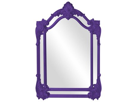 Howard Elliott Cortland 32'' W x 47'' H Royal Purple Wall Mirror