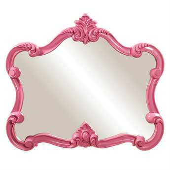 Howard Elliott Veruca 32 x 28 Pink Wall Mirror