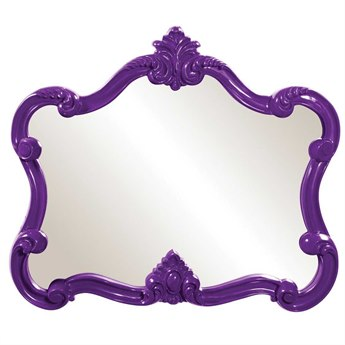 Howard Elliott Veruca 32 x 28 Purple Wall Mirror