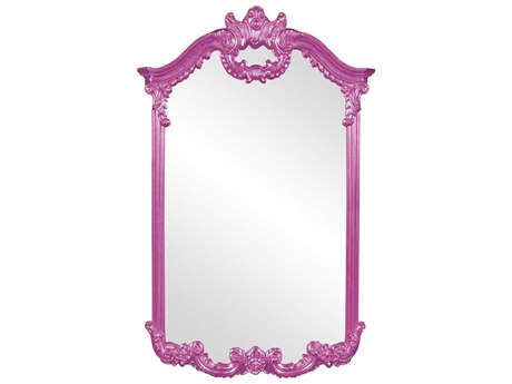 Howard Elliott Roman 32'' W x 51'' H Hot Pink Wall Mirror