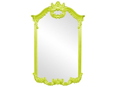 Howard Elliott Roman 32'' W x 51'' H Green Wall Mirror