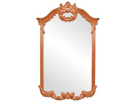 Howard Elliott Roman 32'' W x 51'' H Orange Wall Mirror