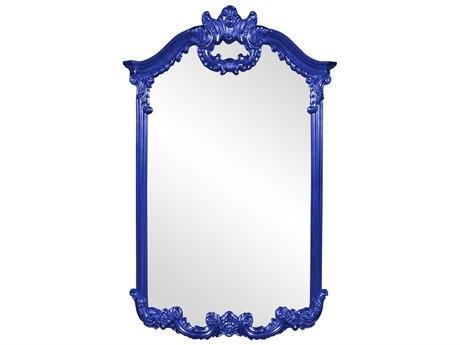 Howard Elliott Roman 32'' W x 51'' H Royal Blue Wall Mirror