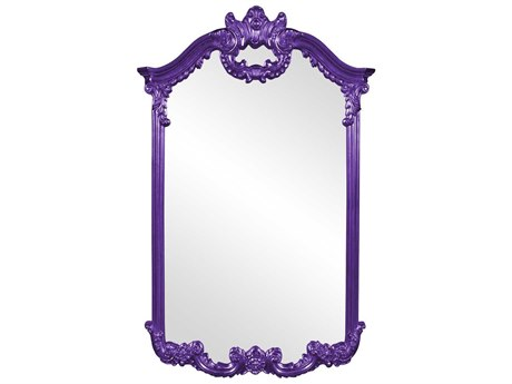 Howard Elliott Roman 32'' W x 51'' H Royal Purple Wall Mirror
