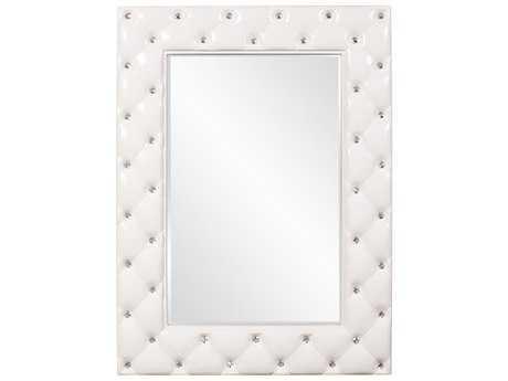Howard Elliott Glamour Tufted White 34 x 47 White Wall Mirror