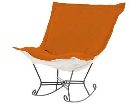 Howard Elliott Sterling Canyon Scroll Puff Rocker Chair - Titanium Frame