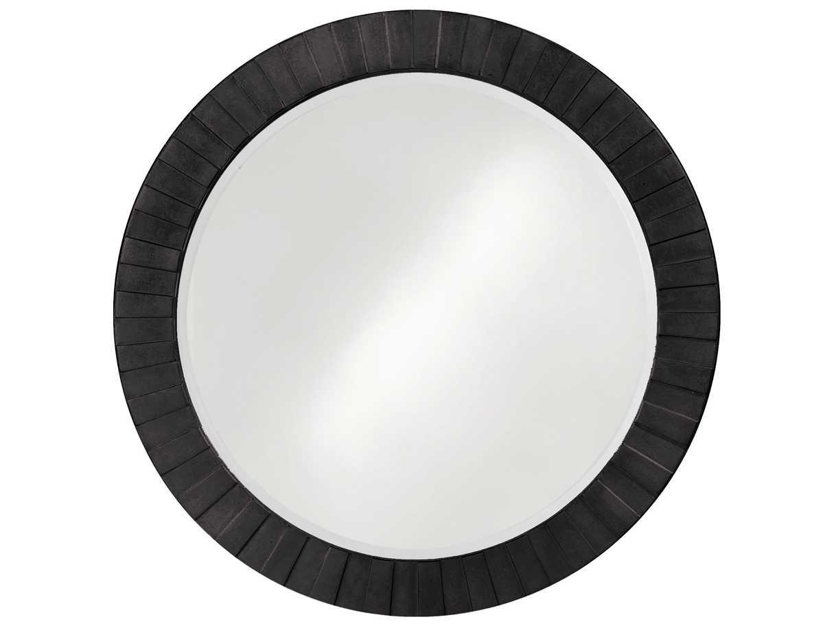 Howard elliott serenity 34 round black wall mirror he6002bl for Round black wall mirror