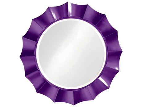 Howard Elliott Corona 41'' Round Royal Purple Wall Mirror