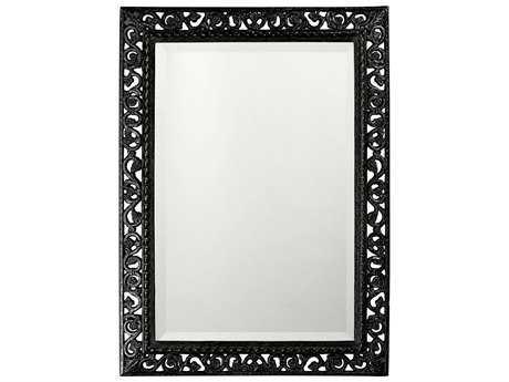 Howard Elliott Bristol 26 x 35 Rectangular Glossy Black Wall Mirror