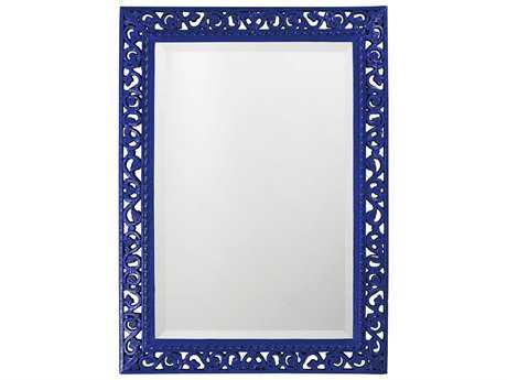 Howard Elliott Bristol 26 x 35 Glossy Royal Blue Wall Mirror