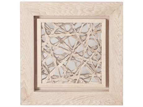 Howard Elliott Blonde Tree Bark 24 x 24 Beige Wall Panel