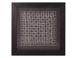 Howard Elliott Abstract Silver Nail 32 Square Black Wall Panel