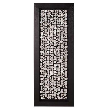 Howard Elliott Chrome Coins 24 x 63 Black Wall Panel