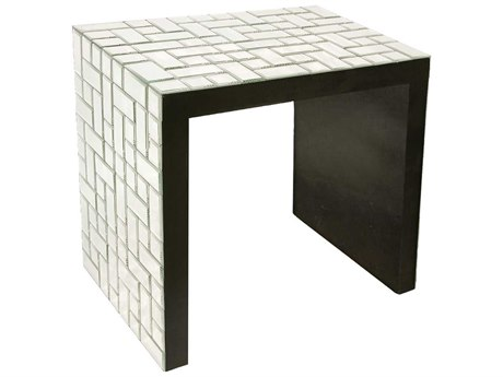 Howard Elliott Mosaic 24 x 16 Black Accent Table