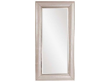 Howard Elliott Hunter 40'' W x 82'' H Pearlized Faux Leather Oversized Floor Mirror