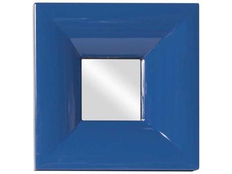 Howard Elliott Candy Blue 9 x 9 Blue Wall Mirror