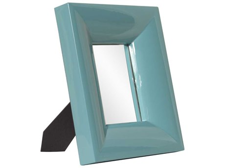 Howard Elliott Candy 10 x 12 Teal Table Top Mirror