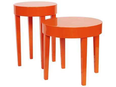 Howard Elliott Orange Nesting Table Set