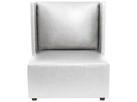 Howard Elliot Square Shimmer Mercury Square Living Chair