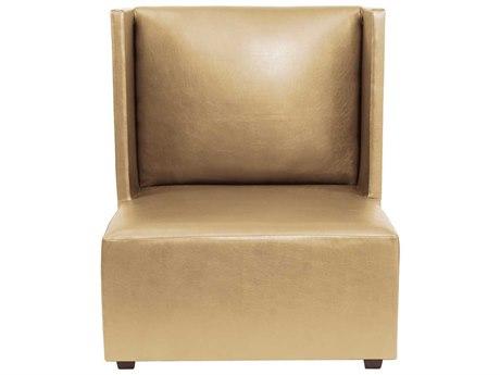 Howard Elliot Square Shimmer Gold Square Living Chair