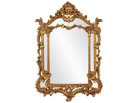 Howard Elliott Arlington Gold Baroque 34 x 49 Gold Wall Mirror