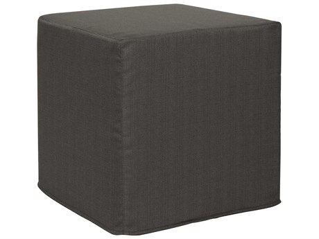 Howard Elliott Sterling Charcoal No Tip Block Ottoman