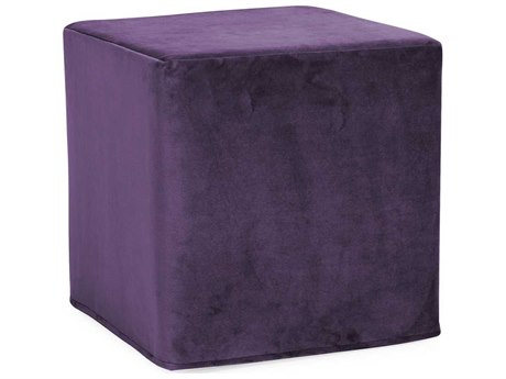 Howard Elliott Bella Eggplant No Tip Block Ottoman