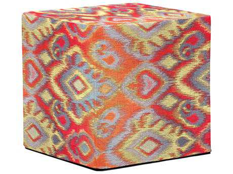 Howard Elliott Opal Fire No Tip Block Ottoman