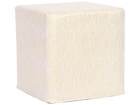 Howard Elliott Glam Snow No Tip Block Ottoman