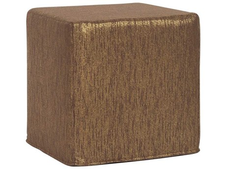Howard Elliott Glam Chocolate No Tip Block Ottoman