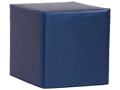 Howard Elliott Shimmer Sapphire No Tip Block Ottoman