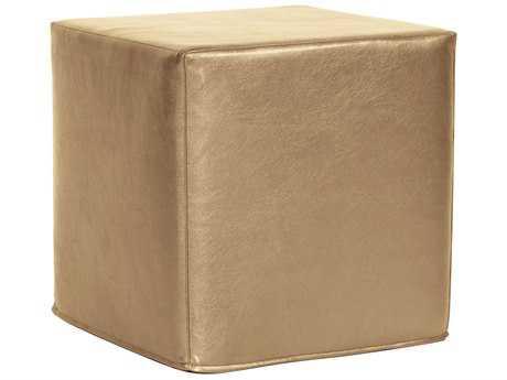 Howard Elliott Shimmer Gold No Tip Block Ottoman