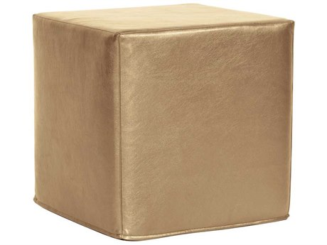 Howard Elliott Shimmer Gold No Tip Block Ottoman
