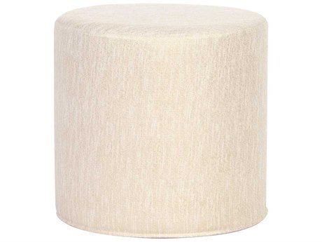 Howard Elliott Glam Snow No Tip Cylinder Ottoman