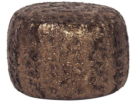 Howard Elliott Gold Cougar Tall Pouf Ottoman