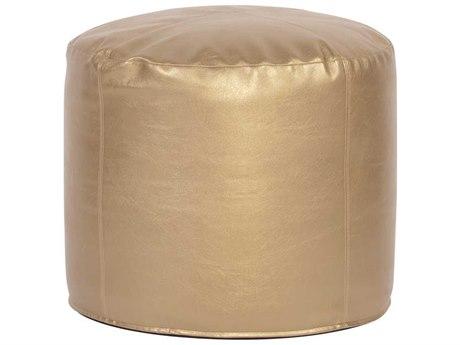 Howard Elliott Shimmer Gold Tall Pouf