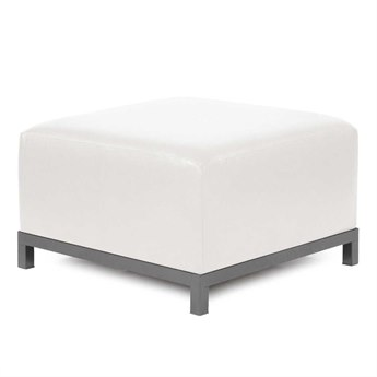 Howard Elliott Avanti White Axis Ottoman Slipcover