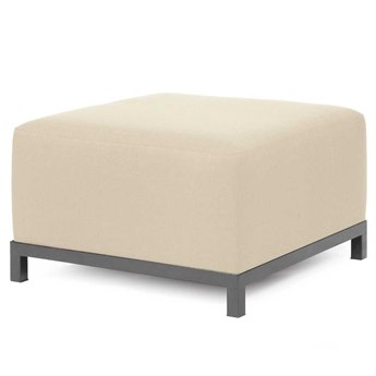 Howard Elliott Sterling Sand Axis Ottoman Slipcover