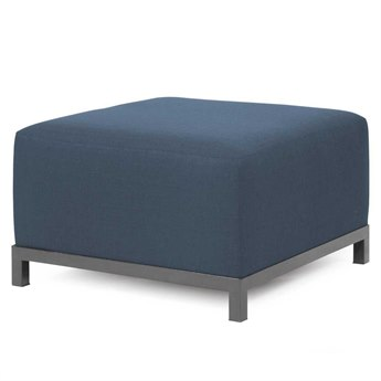 Howard Elliott Sterling Indigo Axis Ottoman Slipcover