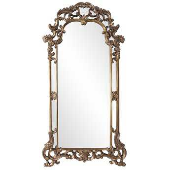 Howard Elliott Imperial 44 x 85 Mottled Bronze w/ Antique Silver Accents Mirror