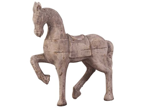 Howard Elliott Horse Faux Stone Old World Styled Sculpture