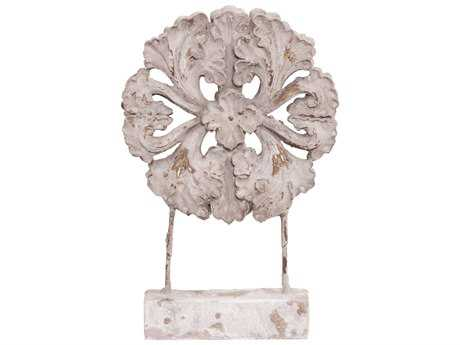 Howard Elliott Rustic Faux Stone Medallion Sculpture