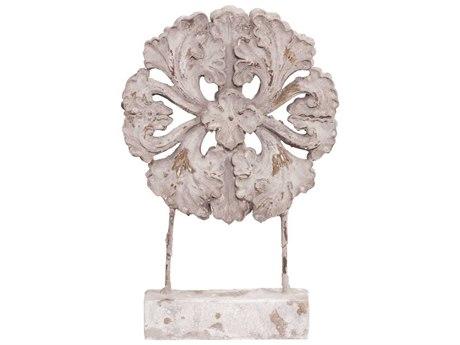 Howard Elliott Rustic Faux Stone Medallion Sculpture