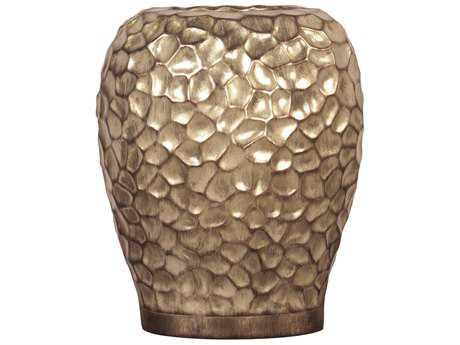 Howard Elliott Hammered Gold Wide Vase