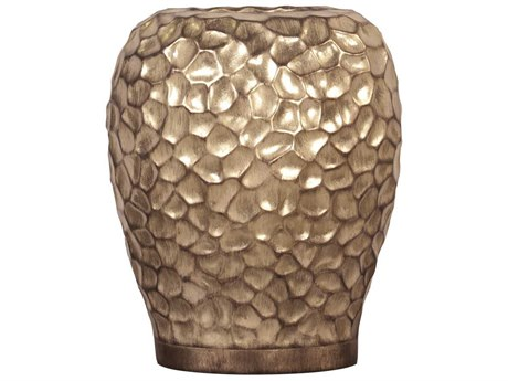 Howard Elliott Hammered Gold Wide Vase