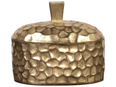 Howard Elliott Hammered Gold Decorative Box