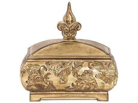 Howard Elliott Ornate Gold Decorative Box